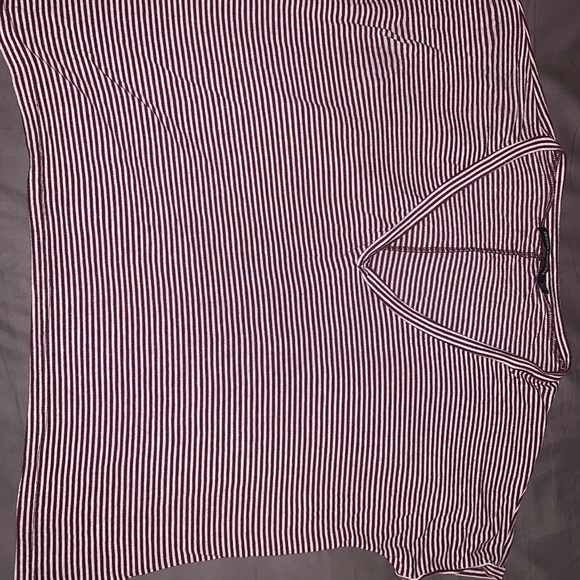 Brandy Melville red and white striped tee